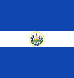 flag of el salvador vector image
