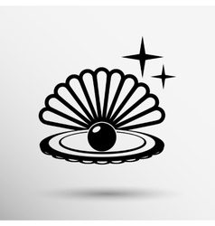 Gray web icon pearl isolated ball symbol vector