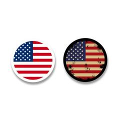 Grunge American flag badges vector image vector image