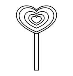 Heart candy icon outline style vector