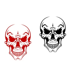 Human skull for horror or halloween vector