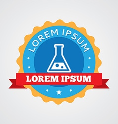 Laboratory vintage badge label icon vector