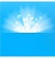 Light burst blue background vector