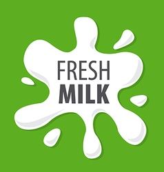 Logo splashes of natural milk vector