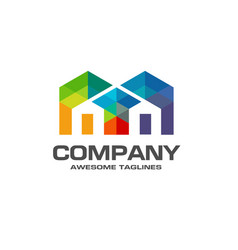 real estate logo colorful concept vector image vector image