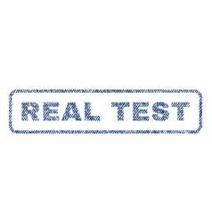 real test textile stamp vector image