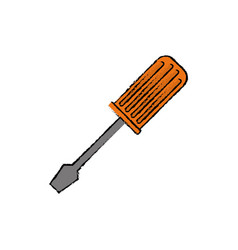 Screwdriver construction tool vector