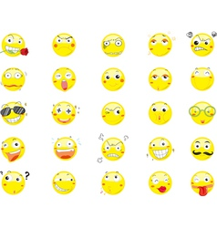 Smile face icons vector