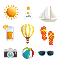 Summer related objects design vector