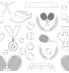 Tennis set pattern vector