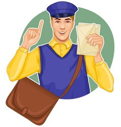Young postman vector image