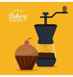 Muffin bakery coffee food icon graphic vector