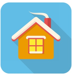 Christmas house icon vector