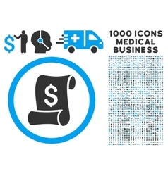 Financial receipt roll icon with 1000 medical vector