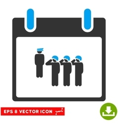 Army Squad Calendar Day Eps Icon vector image