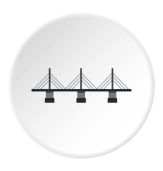 Bridge with triangular supports icon flat style vector