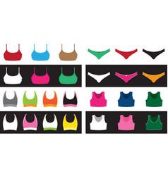 top and shorts set vector image