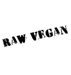 Raw vegan rubber stamp vector