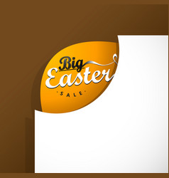 Big easter sale card template vector