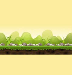 seamless green landscape for game ui vector image