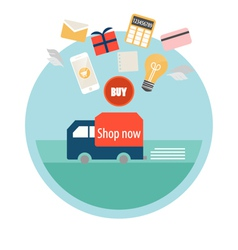 Business concept online shopping infographics vector