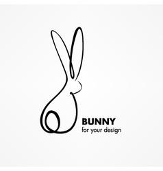 Bunny Rabbit Sketch vector image