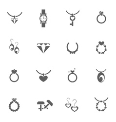 Set of jewelery icons vector