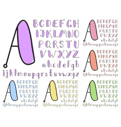 Vintage sketch alphabet vector