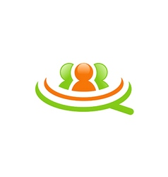 People employee job group logo vector