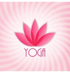 Lotus flower sign for wellness spa and yoga vector