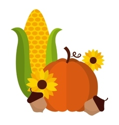 Thanksgiving fruits vector