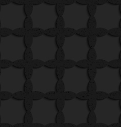 Black textured plastic crossing ovals forming grid vector