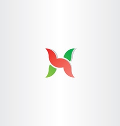 Letter h logo green red icon design vector