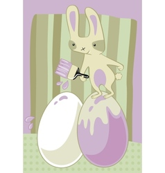 Painter bunny vector