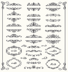 Set of calligraphic vintage elements vector