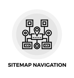 Sitemap navigation line icon vector