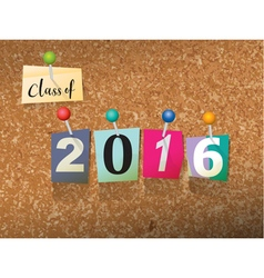 Class of 2016 Concept vector image