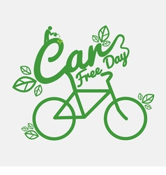 Car Free Day Concept vector image