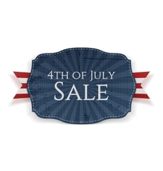 Fourth of july sale holiday banner vector