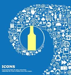 bottle sign symbol Nice set of beautiful icons vector image