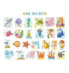 Big marine set of on the theme vector