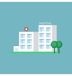 City hospital building vector