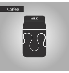 black and white style coffee carton milk vector image