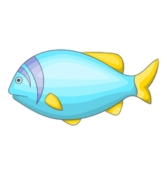Blue fish icon cartoon style vector