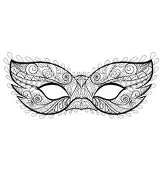 Bohemian festive mask silhouette for vector