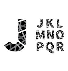 cut paper font vector image vector image