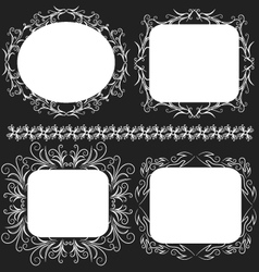Decorative frame set vector image vector image