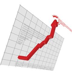 digital graph vector image