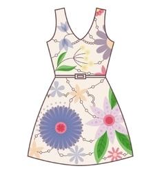 Dress vintage vector