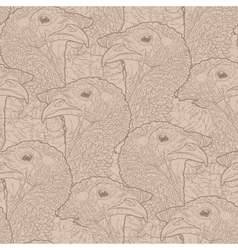 Graphic turkey pattern vector image